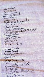 Names of stitchers